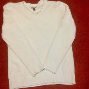White Stag Soft and Warm Ivory Sweater Sz L